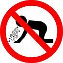 No Puking Sign